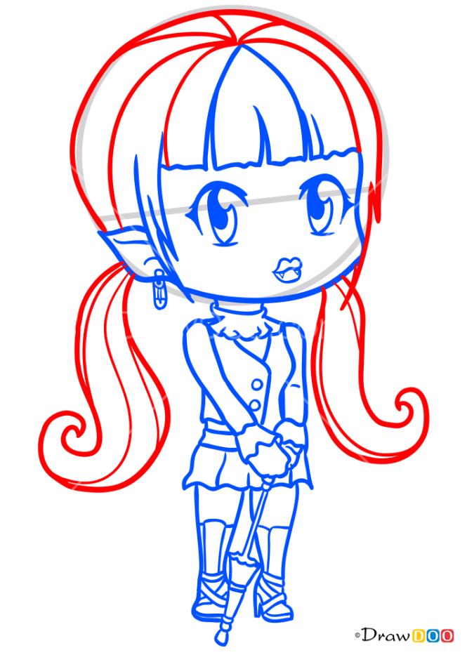 How to Draw Dracula Girl 2, Chibi