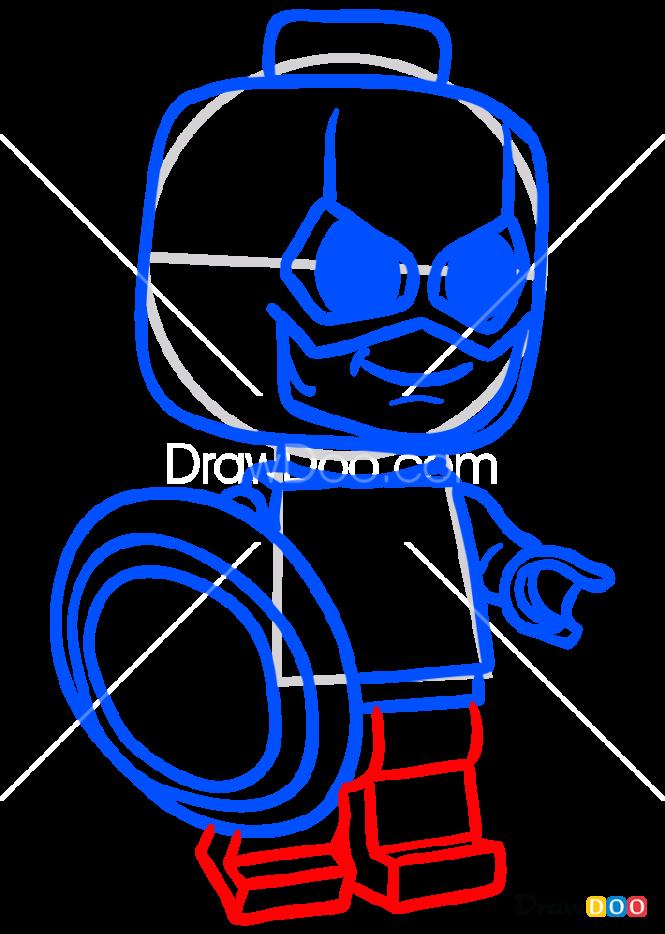 How to Draw Brick Superhero 2, Chibi