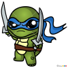 How to Draw Turtle Warrior 1, Chibi