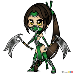 How to Draw Akali, LOL Chibi