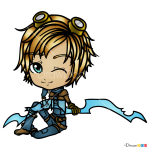 How to Draw Ezreal, LOL Chibi