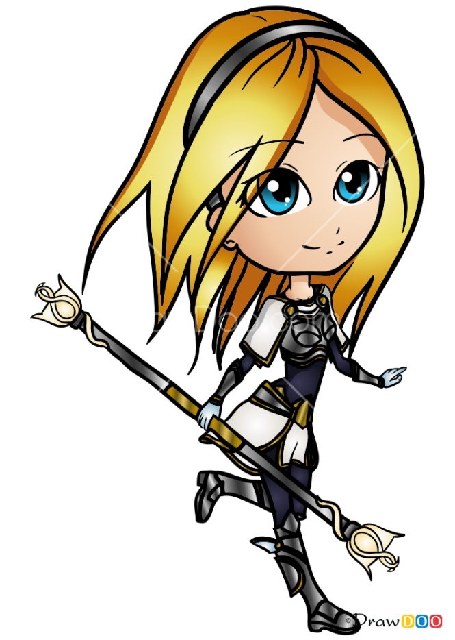 How to Draw Lux, LOL Chibi