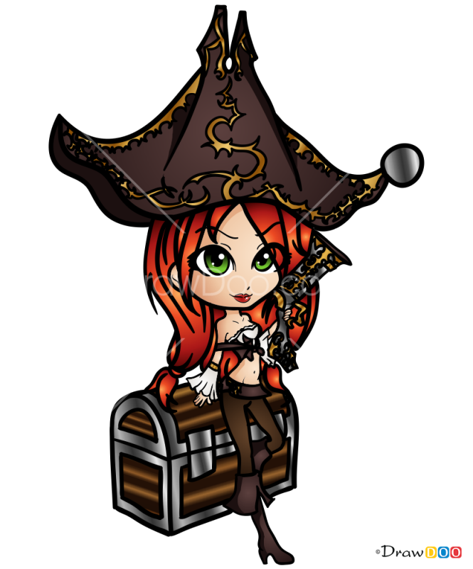 How to Draw Miss Fortune, LOL Chibi