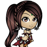 How to Draw Nidalee, LOL Chibi