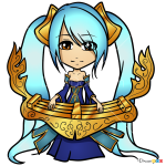 How to Draw Sona, LOL Chibi
