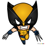 How to Draw Wolverine, Chibi Superheroes