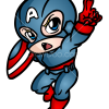 How to Draw Captain America, Chibi Superheroes