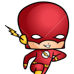 How to Draw Flash, Chibi Superheroes