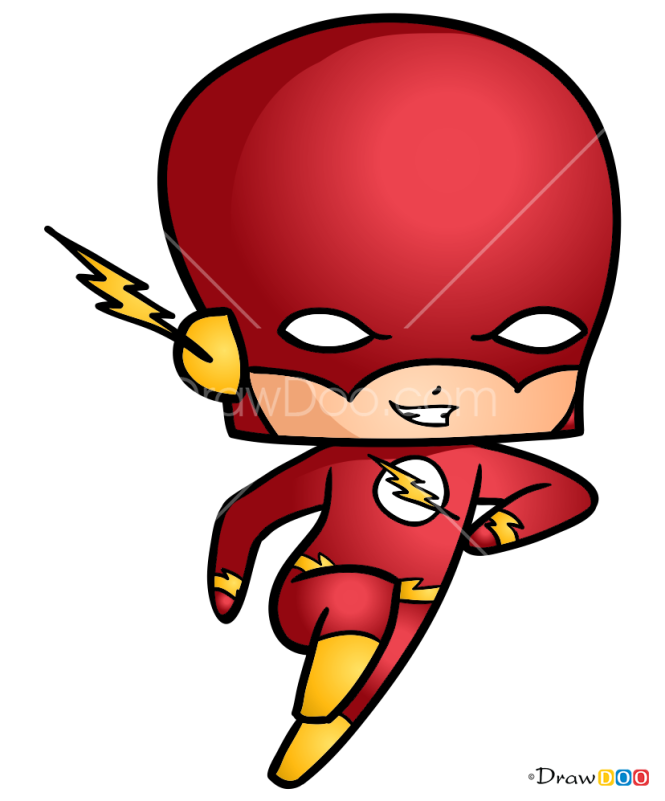 How to Draw Flash, Chibi Superheroes