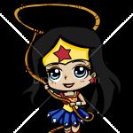 How to Draw Wonder Woman, Chibi Superheroes
