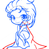 How to Draw Elsa Frozen, Chibi