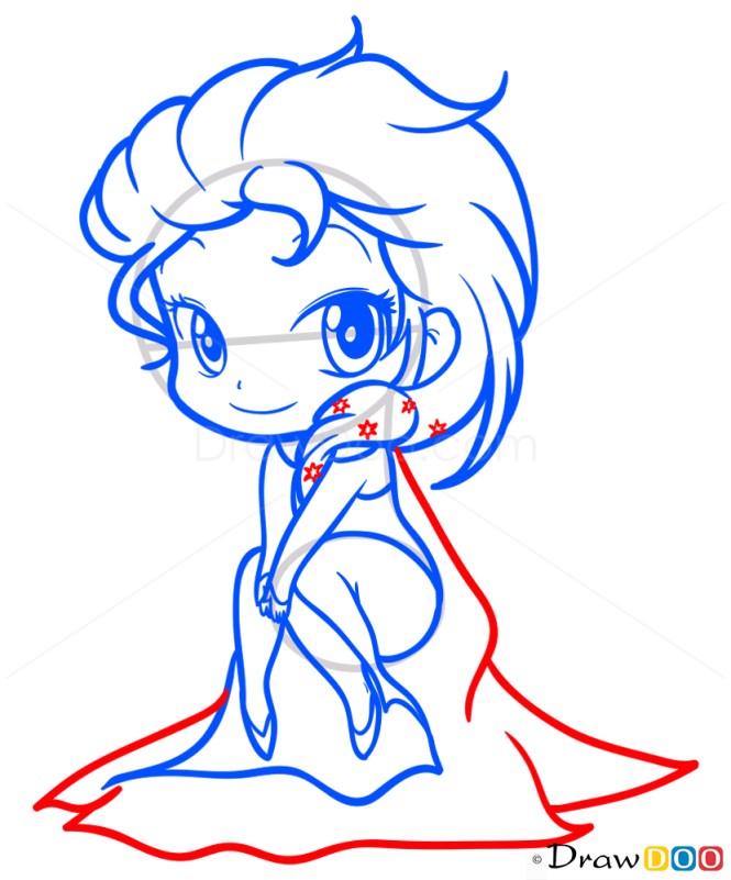 How To Draw Elsa Frozen Chibi