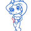How to Draw Jasmine, Chibi