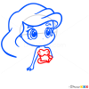 How to Draw Ariel, Chibi