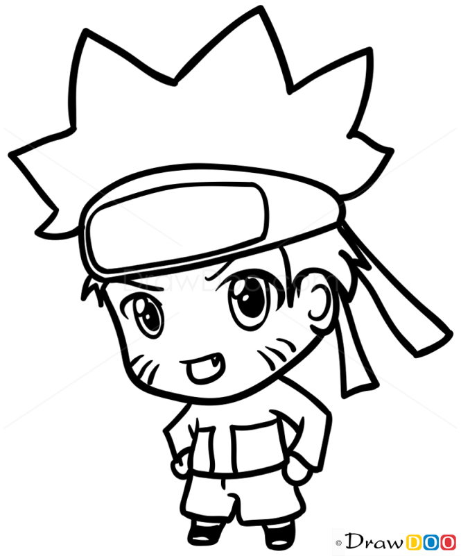 How to draw naruto chibi