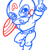 How to Draw Captain America, Chibi