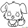 how to draw a chibi dog