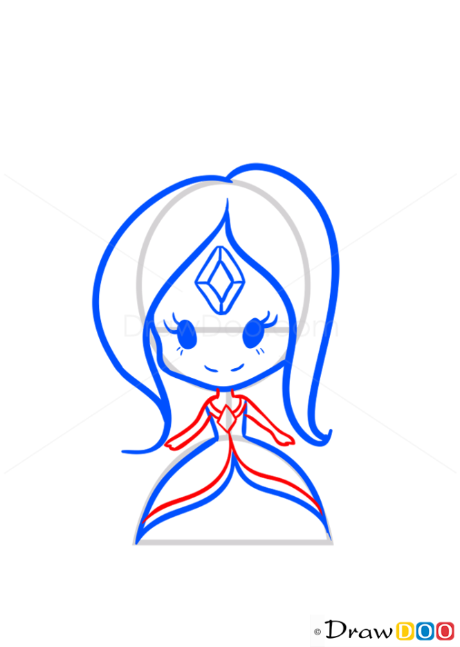 How to Draw Flame Princess, Chibi