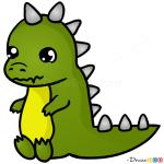 How to Draw Dino, Chibi