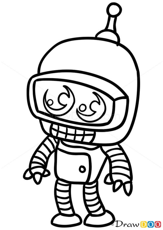 How to Draw Bender, Chibi