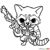 How to Draw Rocket, Chibi