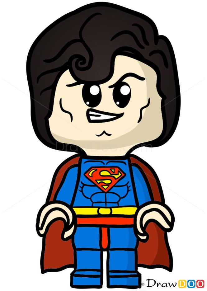 How to Draw Lego Superman, Chibi