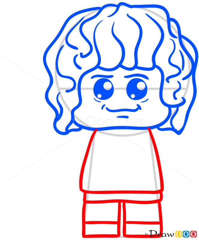 How to Draw Lego Bilbo, Chibi