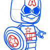 How to Draw Lego Captain America, Chibi