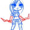 How to Draw Katarina, Chibi
