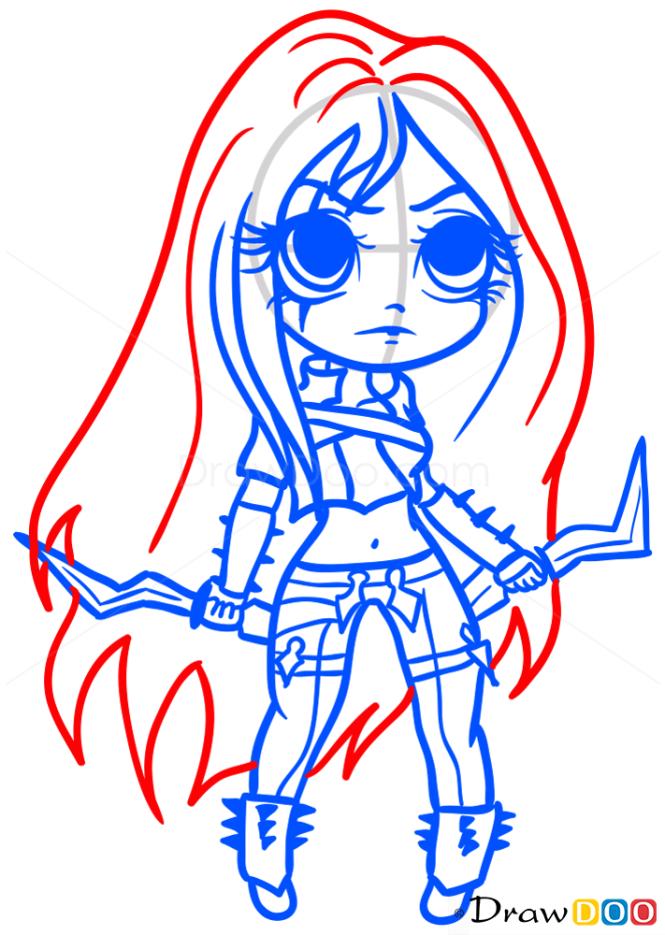 How to Draw Katarina, Chibi