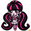 How to Draw Draculaura, Chibi
