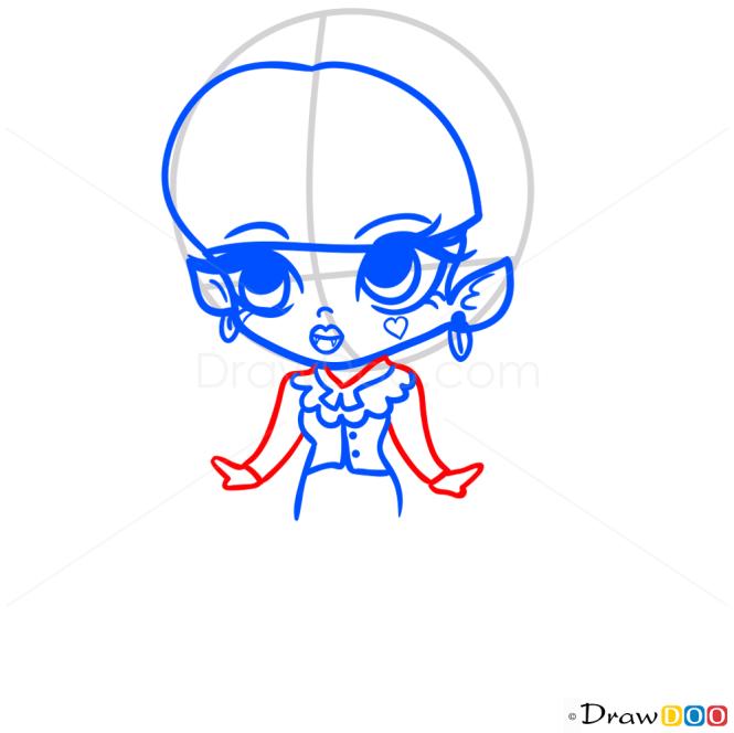 How to Draw Draculaura, Chibi