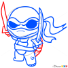 How to Draw Ninja Turtle, Chibi