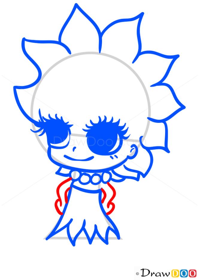 How to Draw Lisa Simpson, Chibi