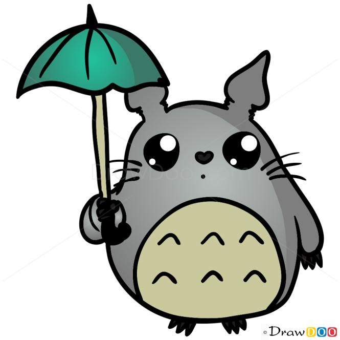 How To Draw Totoro Chibi