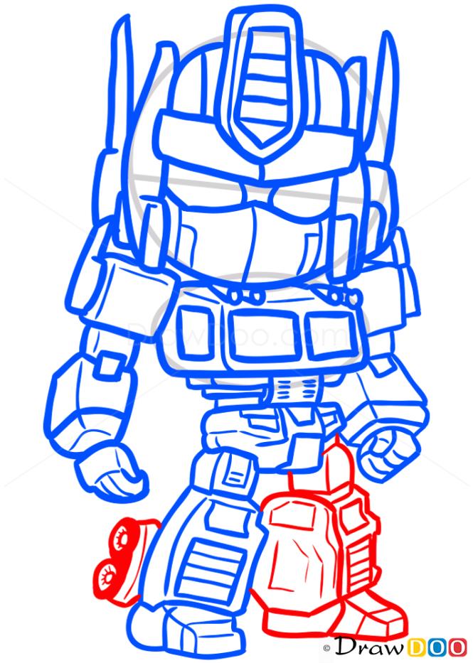 How to Draw Optimus Prime, Chibi