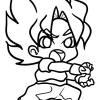 How to draw goku from dbz chibi
