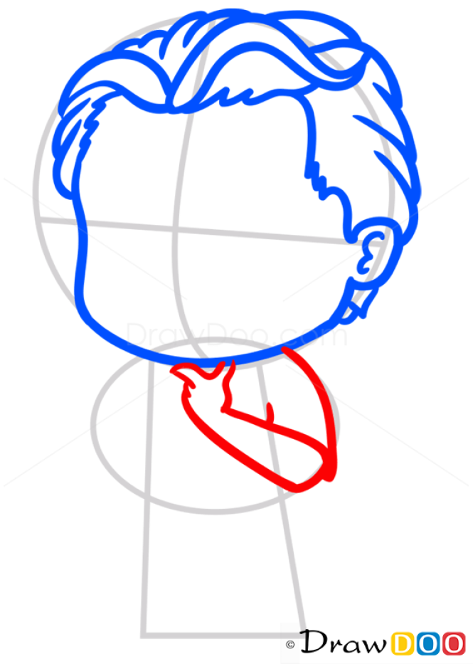 how to draw a leo