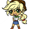 How to Draw Applejack, Chibi