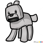 How to Draw Wolf, Chibi Minecraft