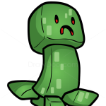 How to Draw Creeper, Chibi Minecraft