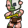 How to Draw Zombie Pigman, Chibi Minecraft