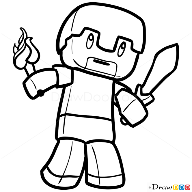 How to Draw Human, Chibi Minecraft
