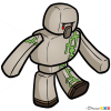 How to Draw Iron Golem, Chibi Minecraft