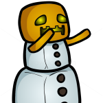 How to Draw Snow Golem, Chibi Minecraft
