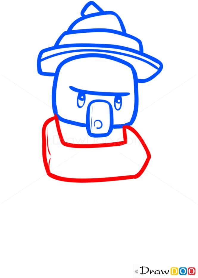How to Draw Witch, Chibi Minecraft