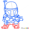 How to Draw Boba, Chibi Star Wars