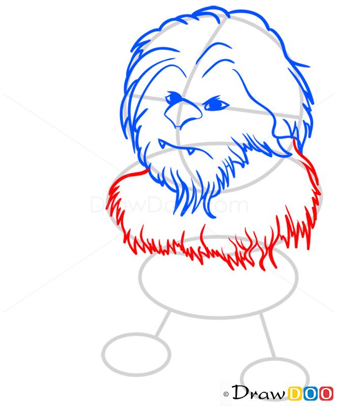 How to Draw Chewie, Chibi Star Wars