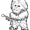 How to Draw Chewie, Chibi Star Wars