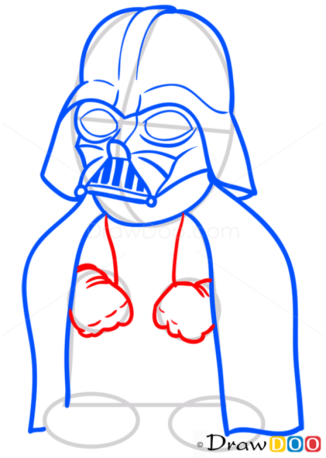 How to Draw Darth Vader, Chibi Star Wars